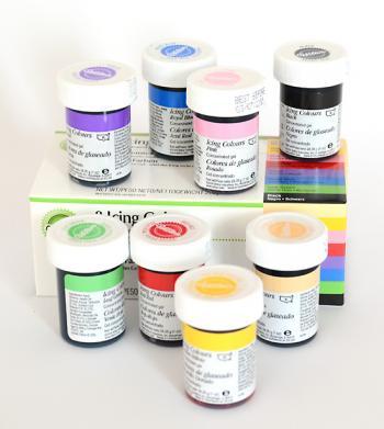 zestaw barwników spożywczych